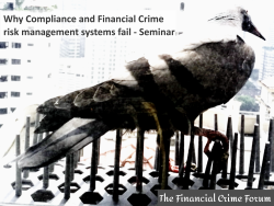 seminar - why financial crime compliance and risk management fails