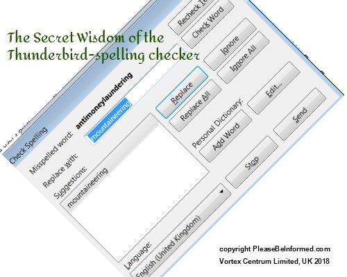 The secret wisdom of the Thunderbird Spell Checker | Please